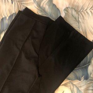 Black high waisted, wide legged pants